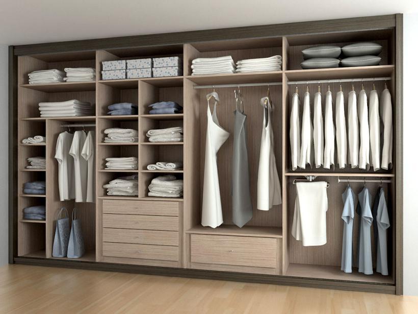 Armarios empotrados - Como forrar un armario por dentro ...
