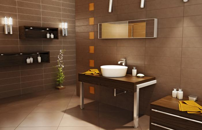 Pisos Para Baño Alfa:Yellow and Brown Bathroom Remodeling Ideas