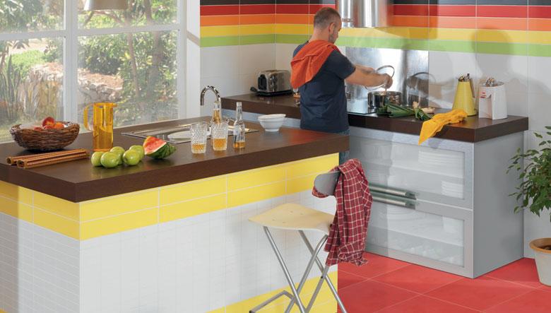 Cocinas integrales de azulejo Azulejos de cocina