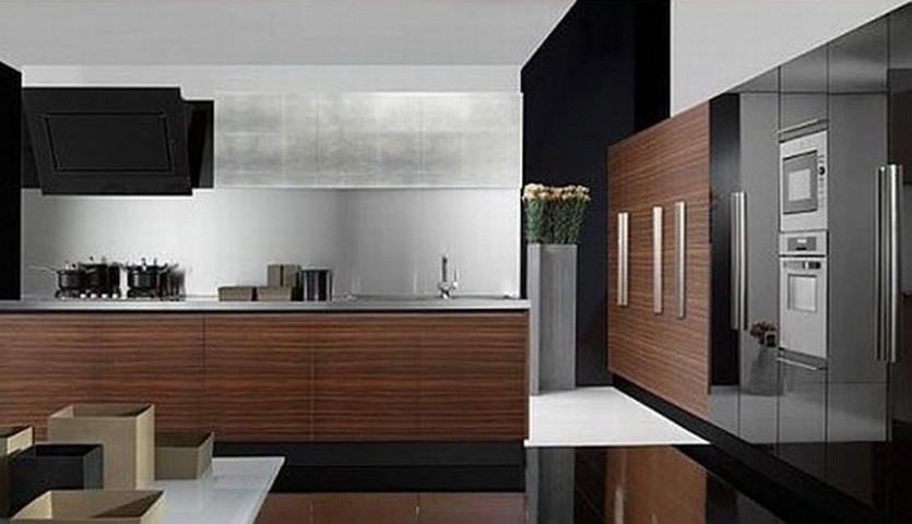 Cocinas integrales minimalistas - Modern kitchen ideas with brown kitchen cabinets ...