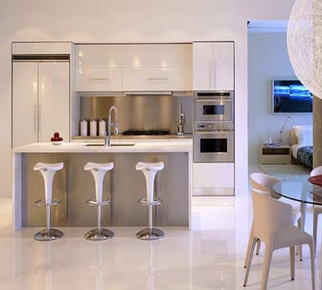 Cocinas peque as minimalistas - Electrodomesticos para cocinas pequenas ...
