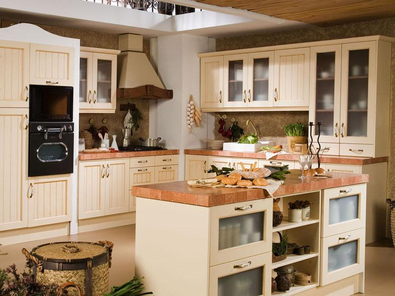 Como decorar cocinas r sticas for Muebles de obra rusticos