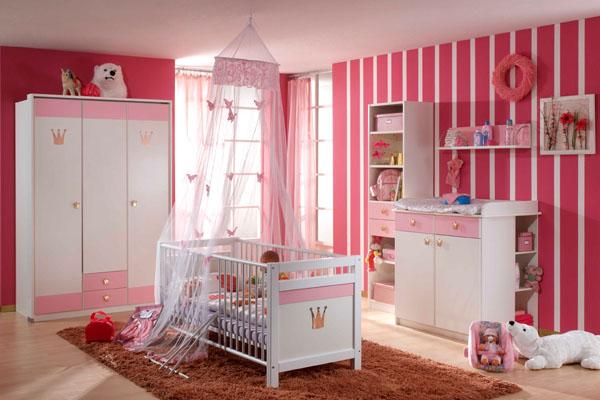 Como decorar el dormitorio de un beb reci n nacido - Decoracion habitacion ninas ...