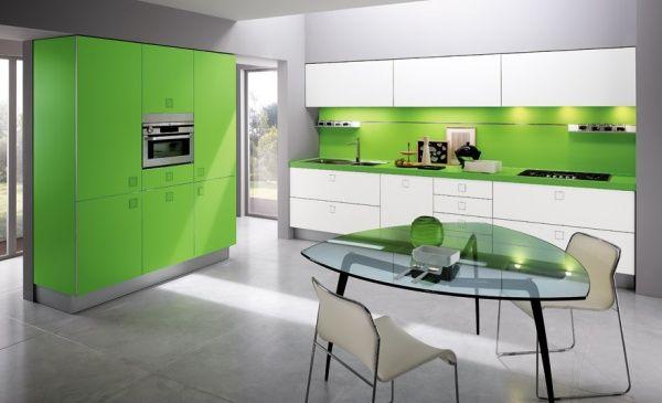 Decoraci n de cocinas modernas - Cocinas con colores vivos ...
