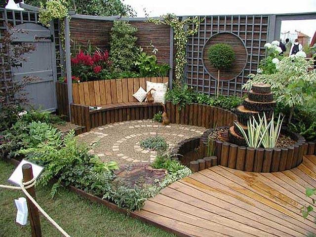 Decoraci n de patios y jardines for Murales para patios y jardines