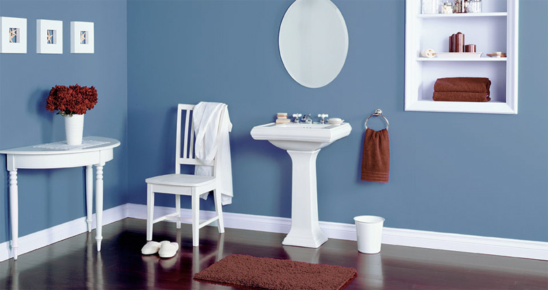Decoracion Baño Azul:Decorar un baño de color azul