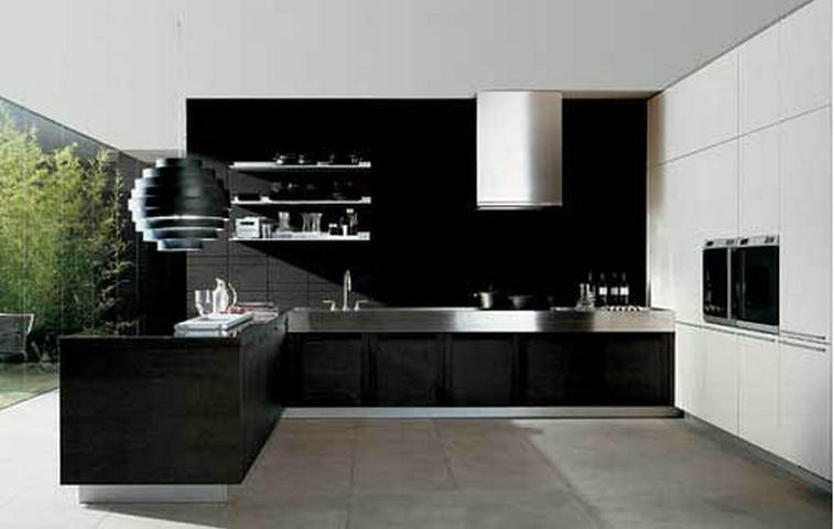 Black Modern Kitchen Designs 757 x 480
