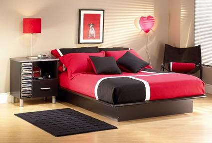 Dormitorio de color rojo, imagenes