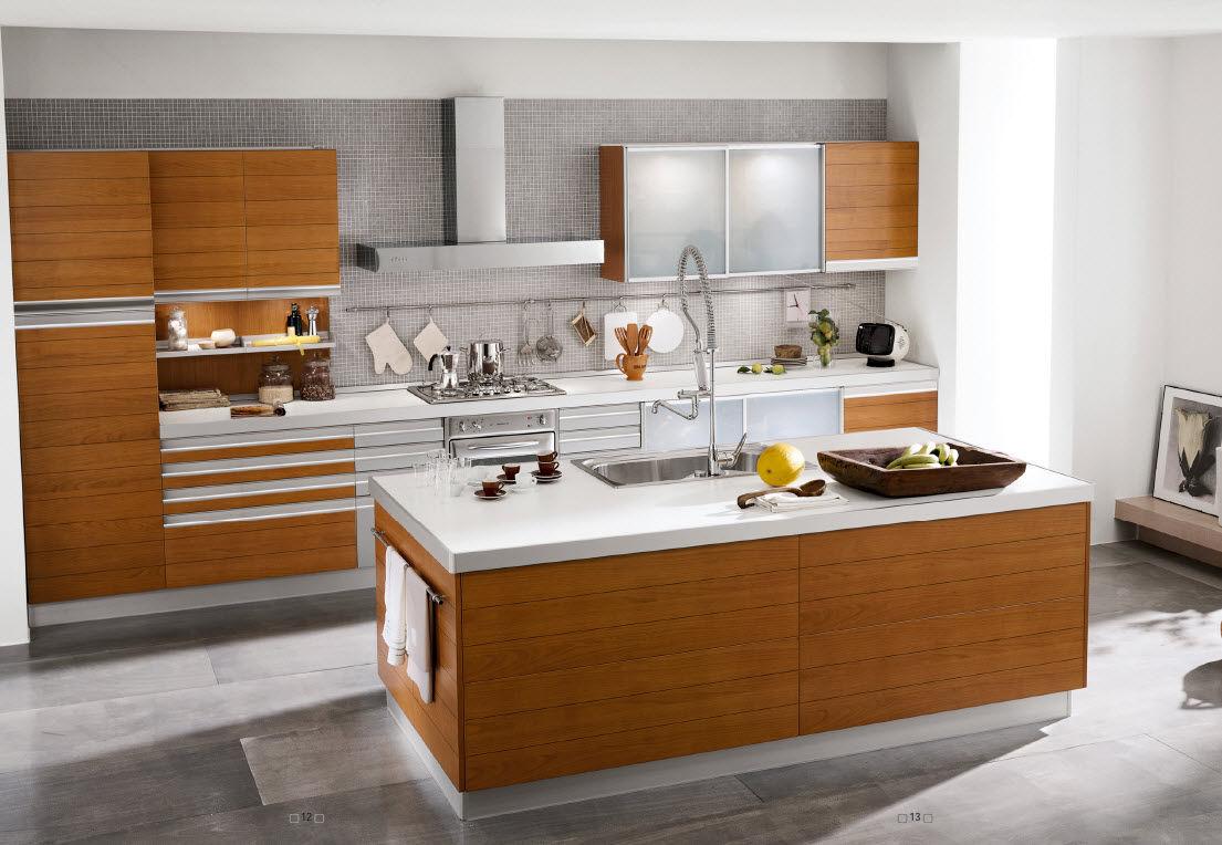 Muebles de cocina moderna for Pisos para cocina moderna