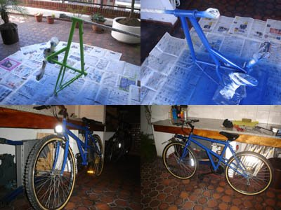 Pintar mi bicicleta en casa