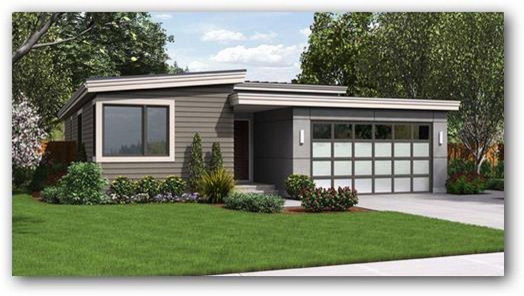 Pintar mi casa por fuera Modern house plans with garage