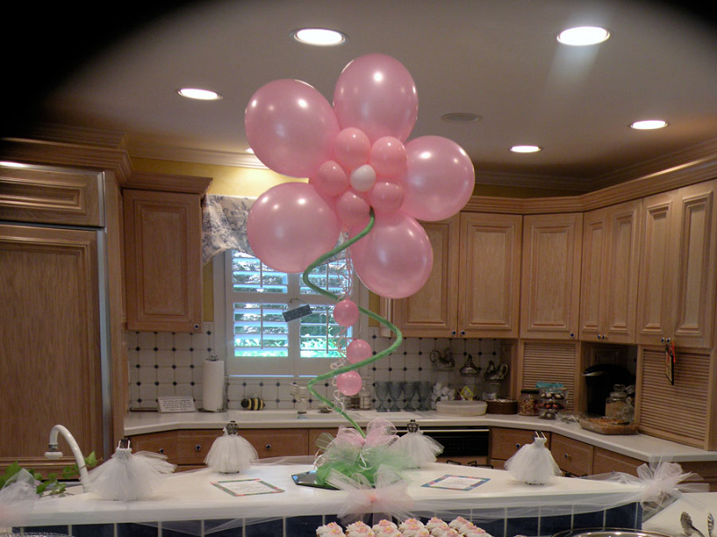 C mo decorar un baby shower for Balloon decoration color combinations
