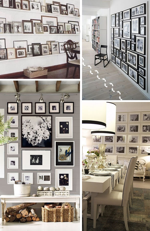 Decorar con fotos - Como decorar pared con fotos ...