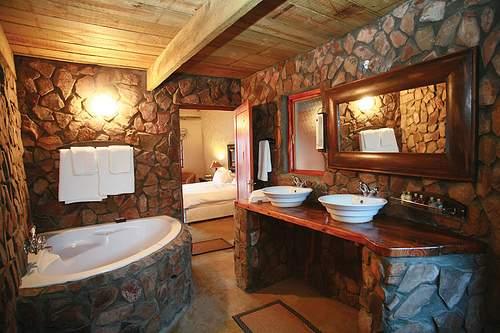 ideas para Decorar baño rústico.