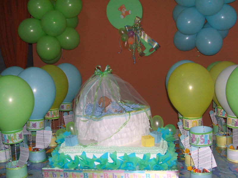 C mo decorar un baby shower for Decoracion para baby shower en casa